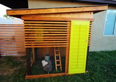 modern chicken coup! Without the yellow door