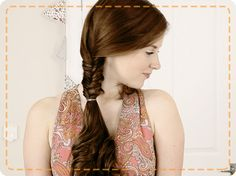 The dressed up fishtail braid is perfect for taking you from day to night.