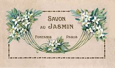 Vintage Clip Art - Paris Soap Label - The Graphics Fairy Vintage Labels, Vintage Ads, Vintage Images, Vintage Prints, French Vintage, Vintage Posters, Vintage Floral, Clip Art Vintage, Clipart