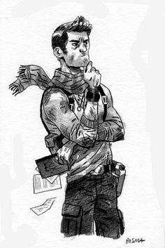 Nathan Drake by Sam Bosma
