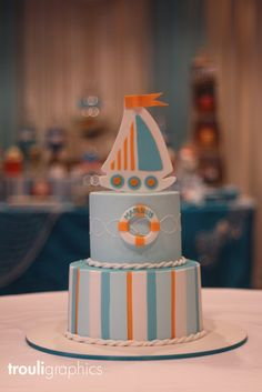 Cake from a Nautical Party #nauticalparty #cake