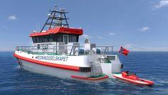 Tegning av slik den nye redningsskøyta RS Idar Ulstein skal se ut.
