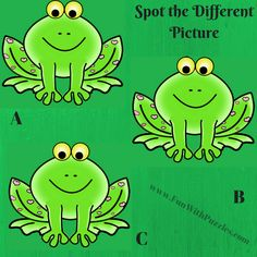 Spot The Different Picture Puzzles-Frog Brain Teasers For Teens, Brain Teasers Riddles, Brain Teasers With Answers, Funny Illusions, Cool Optical Illusions, Brain Yoga, Fun Brain, Hard Puzzles, Puzzles For Kids