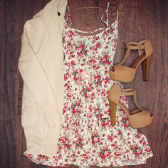 Brandy Floral Dress - Ivory