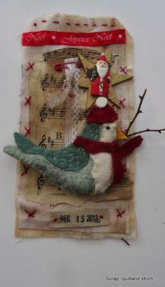 Scrap,quilt and stitch: Etiquettes de l'avent (4)