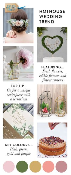 Not heard of this one yet? The hothouse wedding design collection mixes up old-school glamour with the botanical wedding theme – creating a stylish, statement look. From exotic flowers (even edible ones) to personalised stamps, here are some original ideas to style your big day.