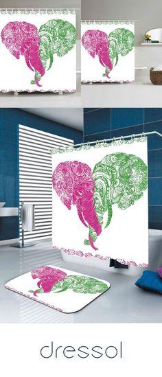 Home & Garden Curtains, Drapes & Valances 2019 Latest Design 3d Christmas Deer 79 Shower Curtain Waterproof Fiber Bathroom Windows Toilet