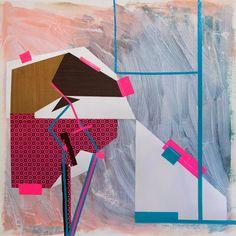 "Saatchi Online Artist Pamela Staker; Mixed Media, ""Interior / Exterior (blue four)"" #art"