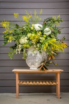 Forage & Flower goes beyond your average florist. Owner Kathryn Davenport creates unique, fresh designs using flowers and botanicals for events and the home. Fresh Flowers, Beautiful Flowers, Large Flower Arrangements, Vase Arrangements, Centerpieces, Estilo Floral, Altar Flowers, Green Theme, Colorful Garden