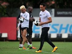 Ricardo Oliveira e Lucas Lima, Santos (Foto: Ivan Storti/Santos FC)