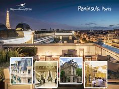 Peninsula, Paris  The #Peninsula sits in the heart of #Paris within walking distance of some of the world's most famous monuments, #museums and #luxury shopping districts.