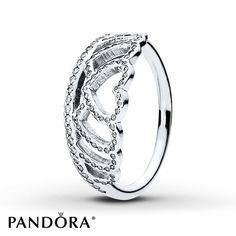 PANDORA Ring Hearts Tiara Sterling Silver