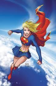 supergirl.  Slightly different costume.  I prefer the red skirt version.