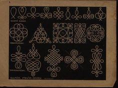 Collection of Hungarian folk art symbols