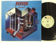Accept – Metal Heart - Indisc Belgium Import LP #Vinyl Record