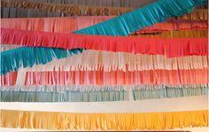 Fringe garlands for a multicolor party decor!