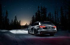 HD wallpaper: Audi, Road, Night, Snow, Forest, Stars, Quattro, Rs6