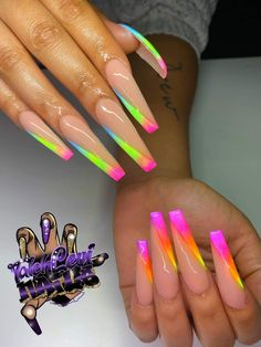 Bling Acrylic Nails, Summer Acrylic Nails, Best Acrylic Nails, Stiletto Nails, Spring Nails, Summer Nails, Blush Nails, Pastel Nails, Glow Nails