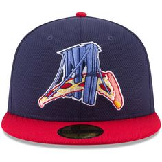 New Era Brooklyn Cyclones Navy Red Authentic Collection On-Field 59FIFTY  Fitted Hat a8fbe1519bbd