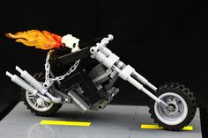 Marvel's Ghost Rider may be all-new, and cruising around in a lowrider, but LEGO enthusiast Sparkart turns to a more classic version of the Spirit of Vengeance for his wonderful brick rendition — chains, flames and all.