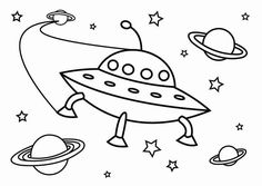Coloring page UFO