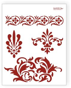 Flourish designed template stencil.