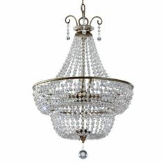 "Marguerite 3-Light Chandelier 27""x18"" $899 (too much design-wise, for space...)"