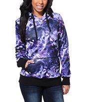 Empyre Frostier Purple Galaxy Print Tech Fleece Jacket