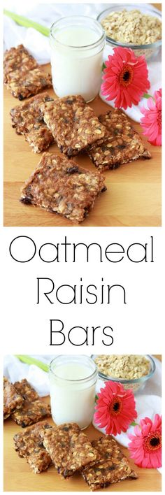 Our Oatmeal Raisin Bars Recipe are a long-time family favorite. . . I adored them growing up and I passed the love onto my kiddos! by cookingwithruthie.com #oatmealraisinbars #oatmealbars #raisinbars #granolabars #oatmealraisin Strawberry Swirl Cheesecake, Strawberry Sauce, Strawberry Desserts, Cheesecake Strawberries, Easy No Bake Desserts, Easy Cookie Recipes, Healthy Recipes, Oatmeal Raisin Bars, Have A Snickers