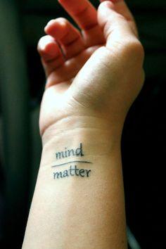 mind matter wrist tattoo http://tattoos-ideas.net/mind-matter-wrist-tattoo/ Wrist Tattoos