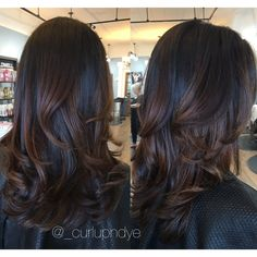 Natural brown Hairpainting #balayage #brownhair #brunette #blowout #curls #ombre
