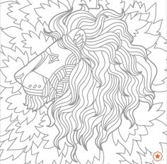 Le lion et sa crinière,coloriage!! Colouring Pages, 2 Colours, Rooster, Abstract, Drawings, Awesome, Artwork, Animals, Image