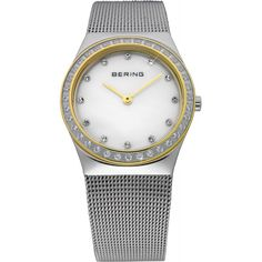 Bering Ladies Mother of Pearl Dial Mesh Band Classic Watch 12430-010