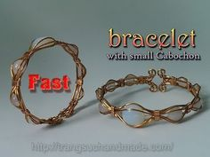 (5) Eye bracelet from copper wire and half round Cabochon - Fast version 325 - YouTube