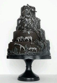 Black Cake in Safari....how hard to find a Black Cake! Though loving the decoration....very clever!