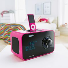 This DAB digital radio and speaker dock from Argos comes in hot pink. Beats Headphones, Over Ear Headphones, Digital Radio, Coldplay, Argos, Hot Pink, Bedroom, Children, Products