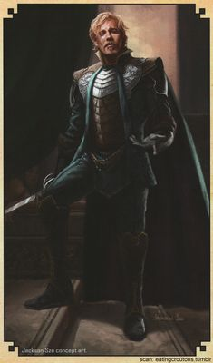 Fandral - Character concept art from Thor: The Dark World - The Art of the Movie