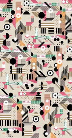 Lyrical Shapes for Tea | Blinkblink Patterns