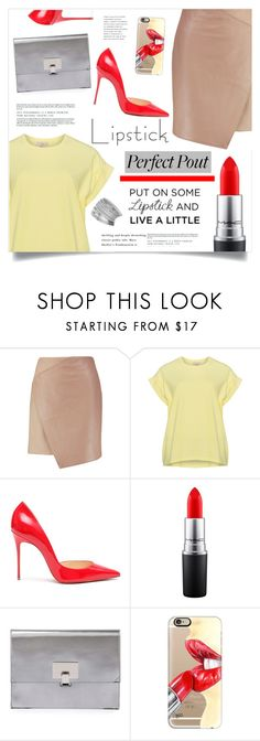 """Put On Some Lipstick And Live A Little"" by marina-volaric ❤ liked on Polyvore featuring beauty, Carven, Christian Louboutin, MAC Cosmetics, Proenza Schouler, Casetify, Miss Selfridge and REDLIP"