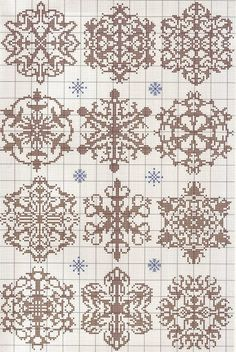 beautiful snowflake knit pattern
