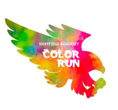 Color Run Logo for Hartfield Academy Charity, Graphic Design, Running, Logo, Poster, Logos, Logo Type, Posters, Movie Posters