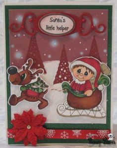 Love this card made by Nancy using stamps and background from Digital Delights by Louby Loo