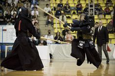 Men Uchi (striking the face) - earns you points in a kendo match, Japan