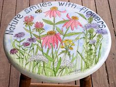 Hand Painted Furniture Botanical Decorative Painting on Home Decor and Gifts - Laurie Rohner Studio