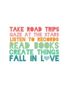 My favorite things to do!