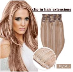 Product Description: Hair Extension Type: Clip-In Material: Human Hair Suitable Dying Colors: All Colors Color: P12/613 Texture: Straight Can Be Permed: Yes Human Hair Type: Brazilian Hair Material Gr