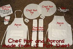 Child's Chef Hat and Apron Tutorial