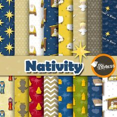 Nativity of Jesus Digital Paper : Christmas Nativity by DGexpress