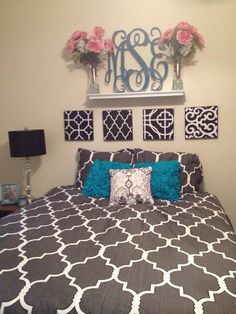 love the bedding and monogrammed decal