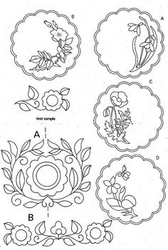 Free supplement of NZ Woman's Weekly in Embroidery Motifs, Embroidery Transfers, Hand Embroidery Designs, Vintage Embroidery, Embroidery Thread, Machine Embroidery, Card Patterns, Flower Patterns, Flower Designs